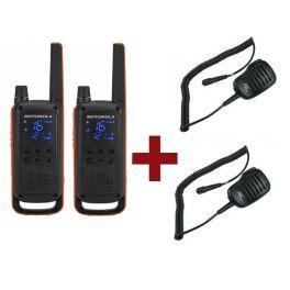 Motorola Talkabout T82 Twin pack + 2x HP microphones
