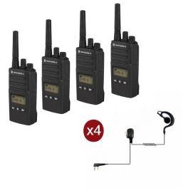 Motorola XT460 4-pack + 4 Headsets