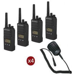 Motorola XT460 Quad-pack + 4 Speakermics