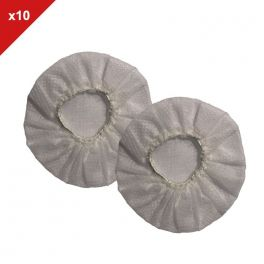 White disposable pads - 10 pairs