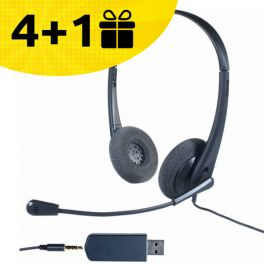 4 Cleyver headsets + 1 free headset