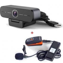 USB HD Webcam with Speechi Wireless Microphone