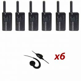 Kenwood PKT-23 Six Pack with 6 KHS-34 Ear Buds