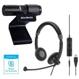 Sennheiser SC75 USB MS + Avermedia webcam Live Streamer 313