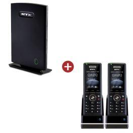 RTX8660 IP DECT Base Station + 2 RTX8630 Handsets