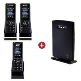 RTX8660 IP DECT Base Station + 3 RTX8630 Handsets