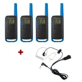 Motorola Talkabout T62 (Blue) Quad Pack +  Bodyguard Kits