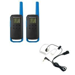 Motorola Talkabout T62 (Blue) Twin Pack + Bodyguard Kits