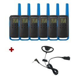 Motorola T62 (Blue) Six Pack + D-Shaped Ear Pieces