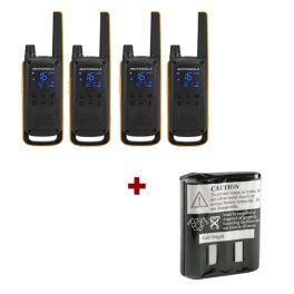 Motorola T82 Extreme Quad Pack + Spare Batteries