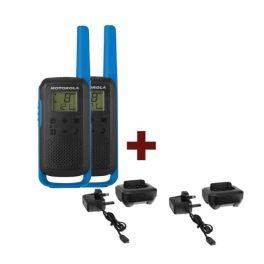 2 Pack Blue Motorola T62 + 2 Charging Docks