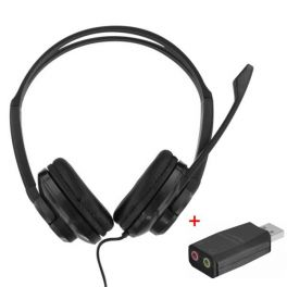 T'nB HS-200 Multimedia Headset with USB adapter
