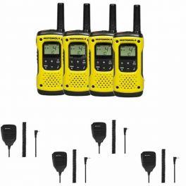 Motorola T92 Quad-pack + 4 Speakermics