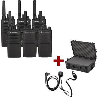 Motorola XT420 Six-Pack + PTT headset and carrying case