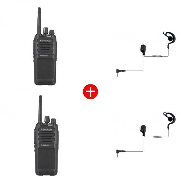 Kenwood TK-3701DT Twin Pack + Ear Hook Kit