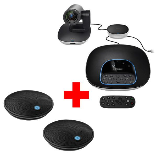 Logitech Group + 2 expansion microphones pack