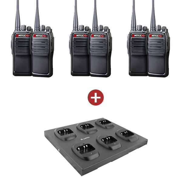 Mitex General Xtreme (GeneralX) Six Pack with 6 Way Charger