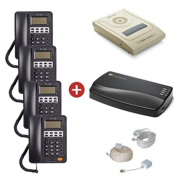 Orchid Telecom PBX 207 Starter Pack + Orchid MOH1 Unit
