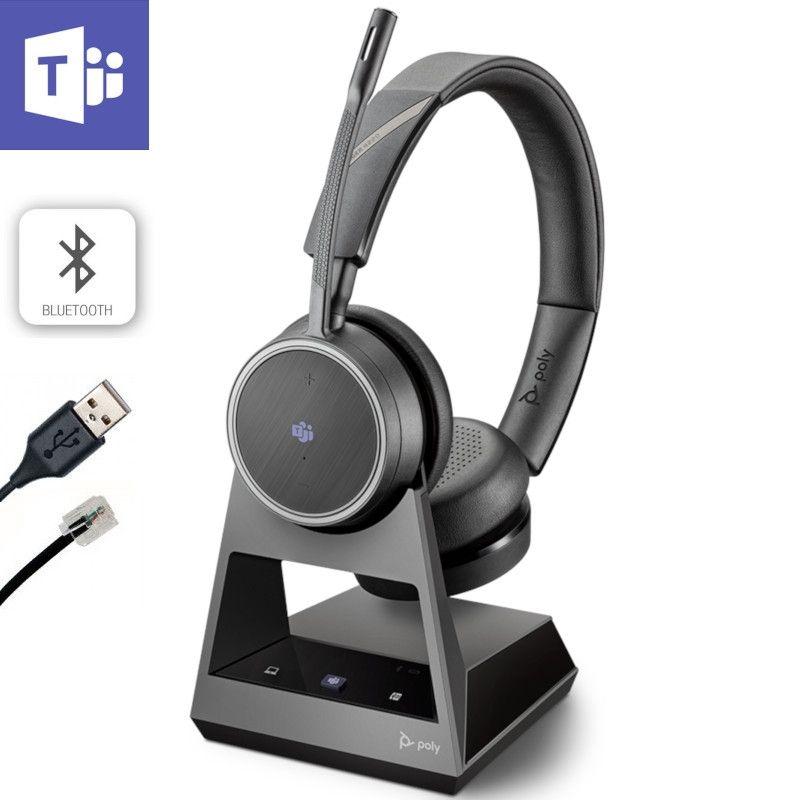 Poly Voyager 4220 Office, 2-Way Base, Teams, USB-A
