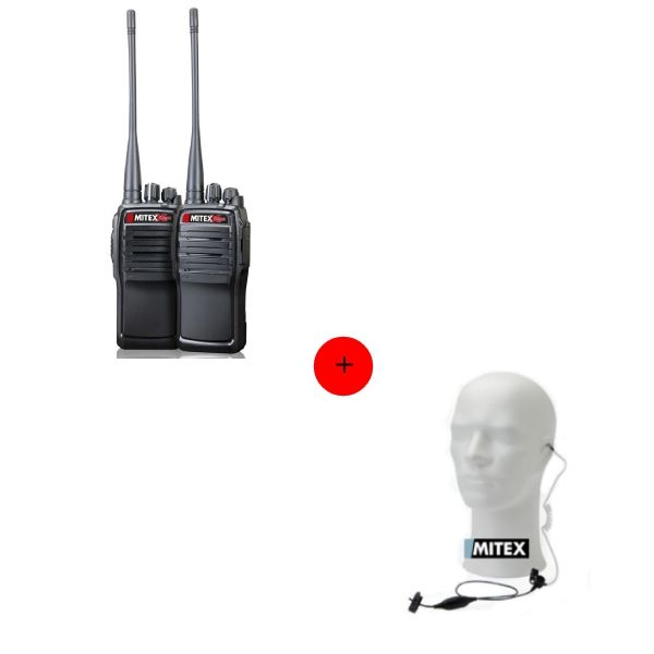 Mitex General Xtreme Twin Pack + 2 x 1-Wire Acoustic Earpiece