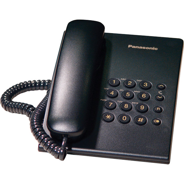 Panasonic KX-TS500 Black Corded Desktop Phone