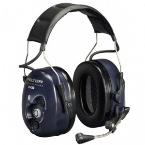 Ear defenders with built-in microphone
