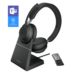 Jabra Evolve2 65 MS Stereo - Black with charging stand
