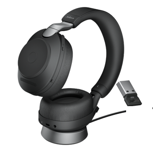 Jabra Evolve2 85 Link380a UC Stereo with charging stand - Black