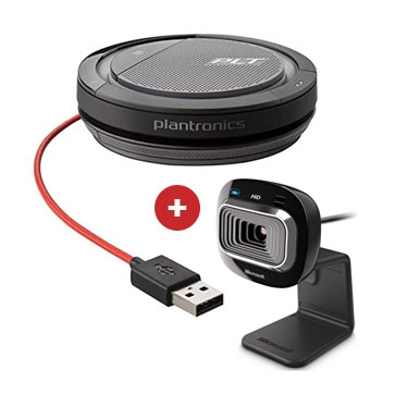 Microsoft Lifecam with Plantronics Calisto 3200