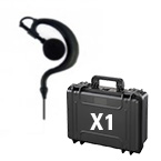 4x headsets & Carrying Case