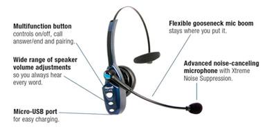 VXi BlueParrott B250-XTS Cordless Headset